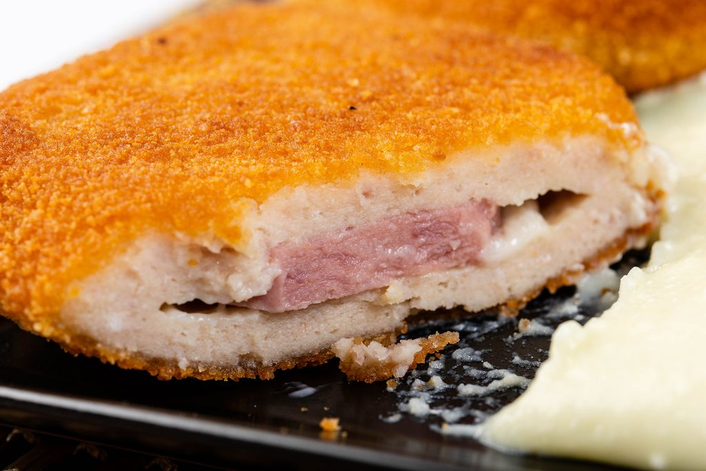 Sliced Fried Turkey Meat with Ham and Cheese (Flip 2019)