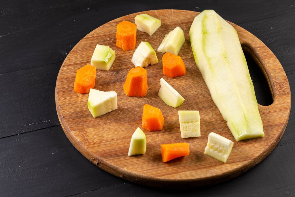 Sliced Zucchini and Carrots