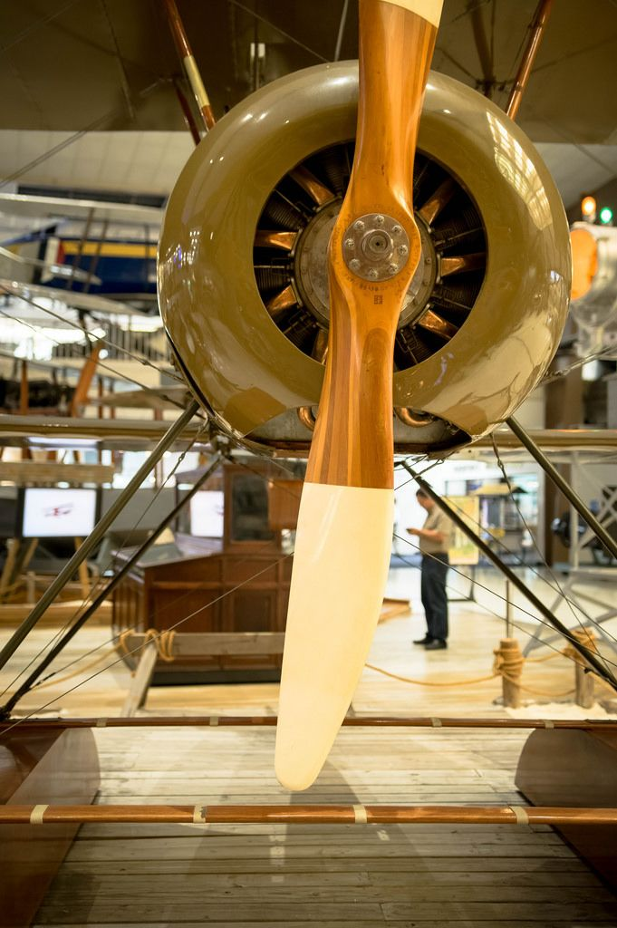 Small plane's engine propeller