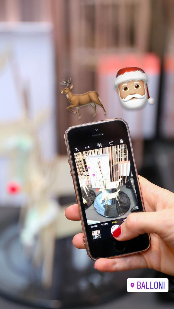 Smartphone-Fotografie im Balloni-Geschäft