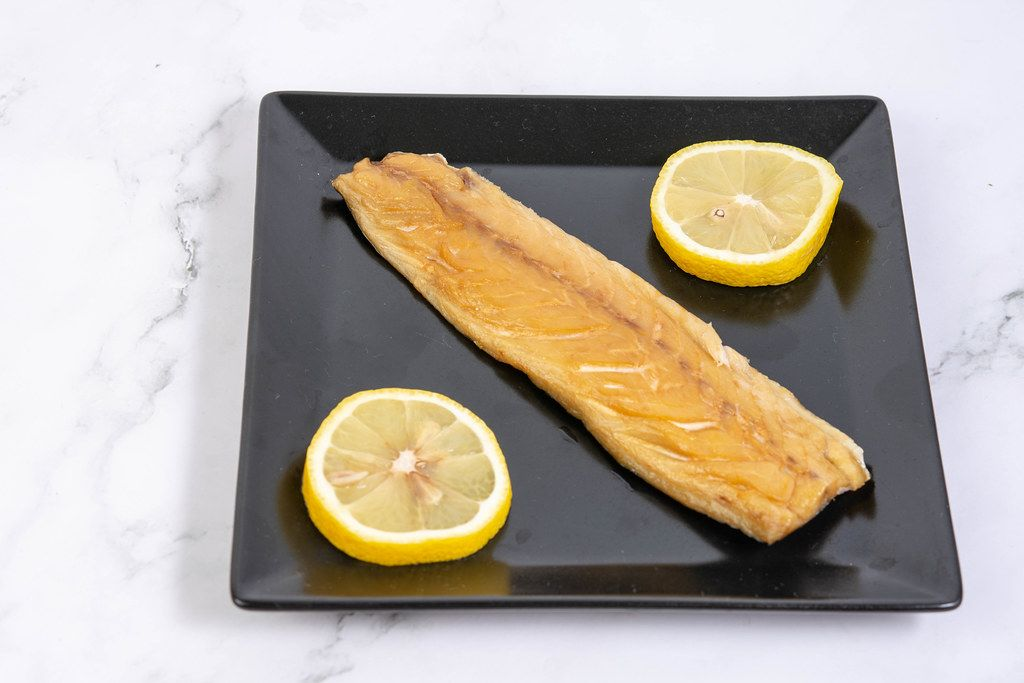 Smoked Mackerel fish with Lemon