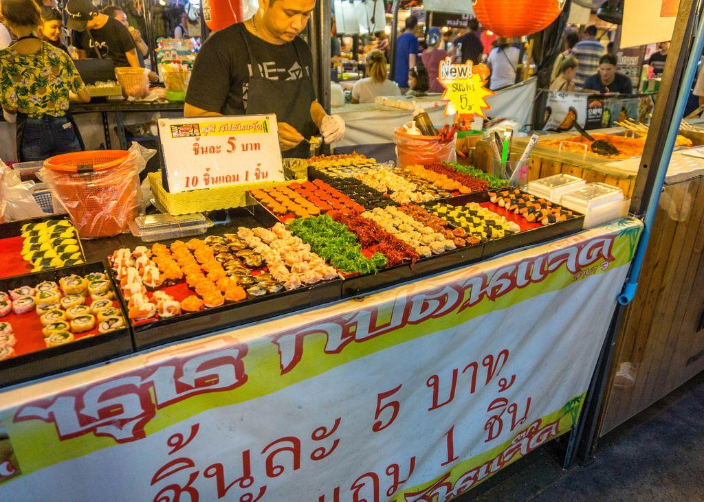 Snacking at the Night Market in Bangkok