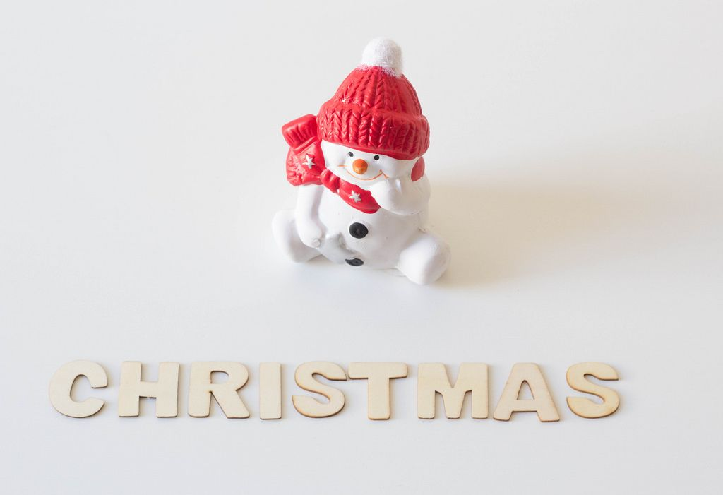 Snowman waiting for Christmas