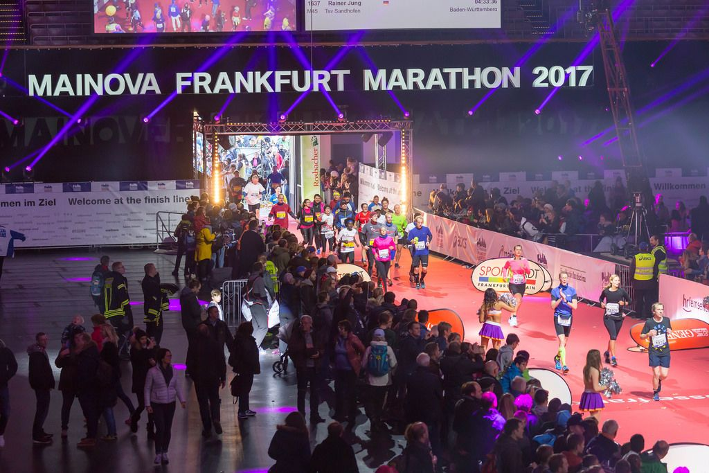 So close to the finish line - Frankfurt Marathon 2017