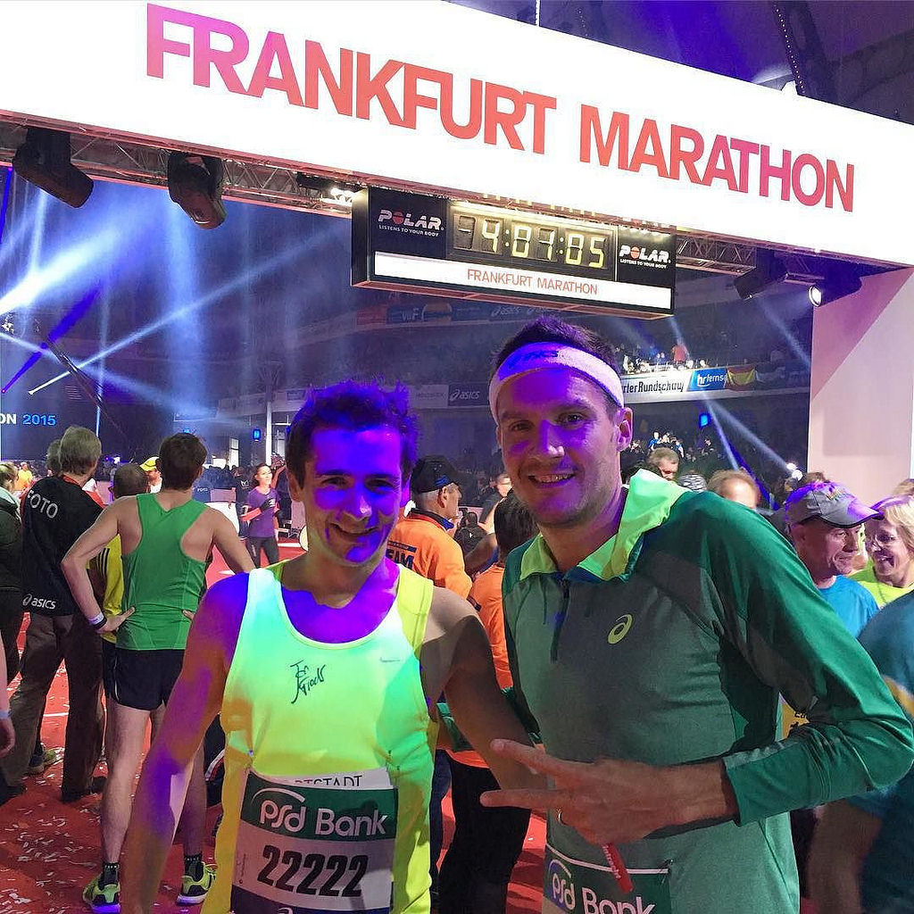 So much fun today. Marathon Relay, German Marathon Record and a Charity Run /w @janfrodeno and many more. #ASICSFrontrunner #marathon #frankfurtmarathon #ironman #charity #happy #happyrunning