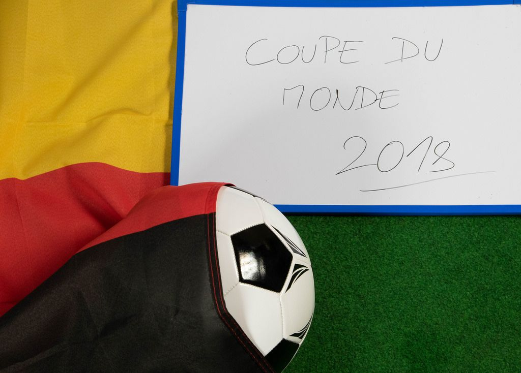 Soccer ball covered with Germany flag