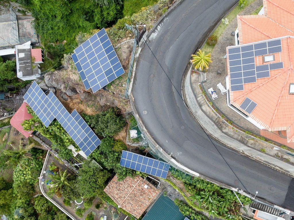 Solarzellen auf Madeira
