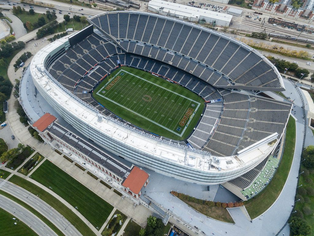 Soldier Field stadium from above