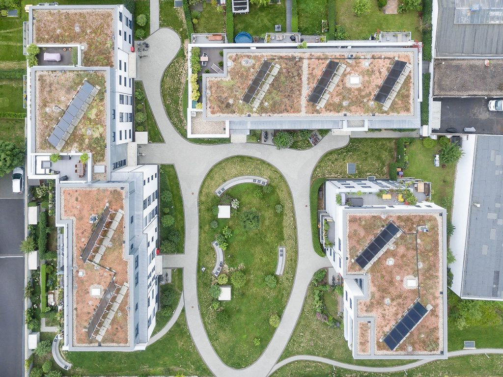 Sollarzellen auf dem Dach