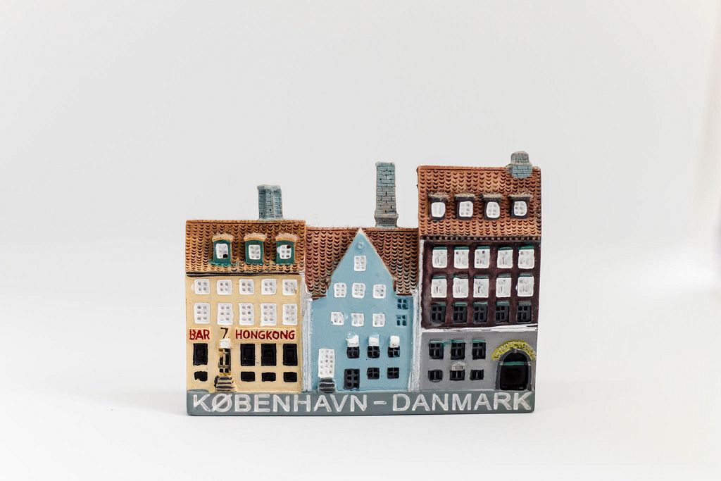 Souvenir from Copenhagen. Typical danish houses.