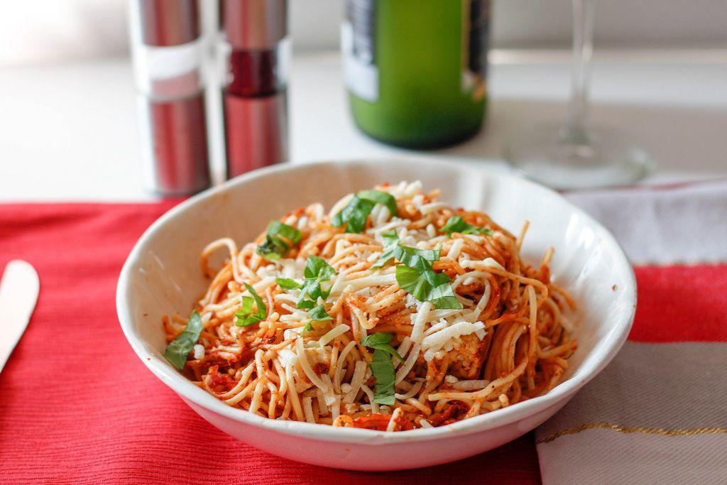 Spaghetti mit Käse