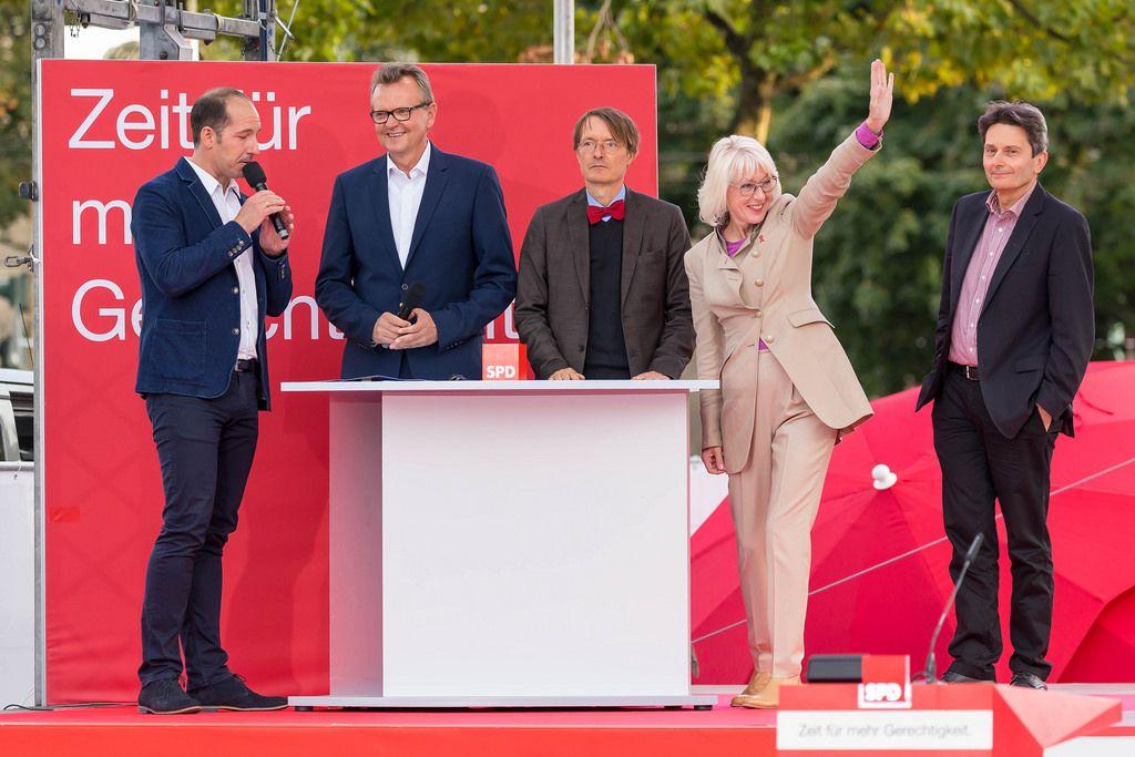 SPD-Kandidaten für Köln: Martin Dörrmann, Elfi Scho-Antwerpes, Dr. Rolf Mützenich und Prof. Dr. Karl Lauterbach