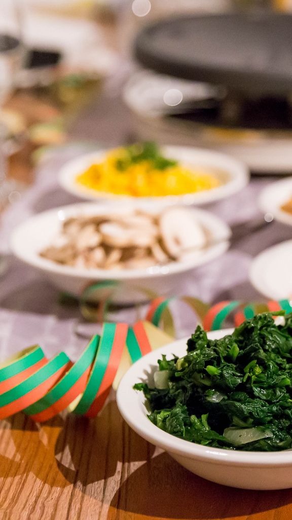 Spinach as a side dish
