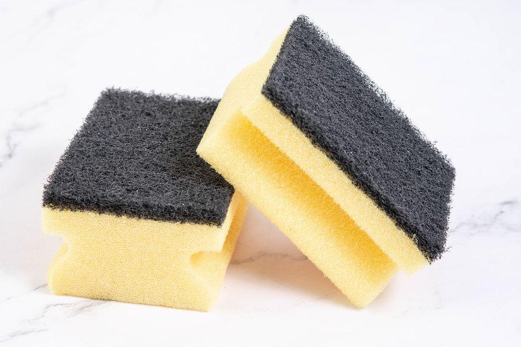 Sponge for Dish Washing isolated above white background