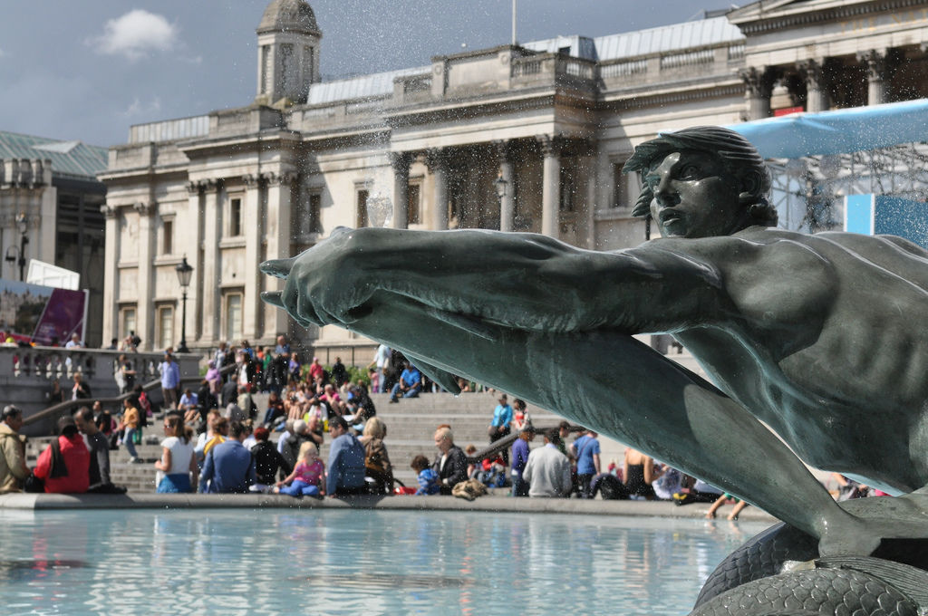 Springbrunnen am Trafalgar Square