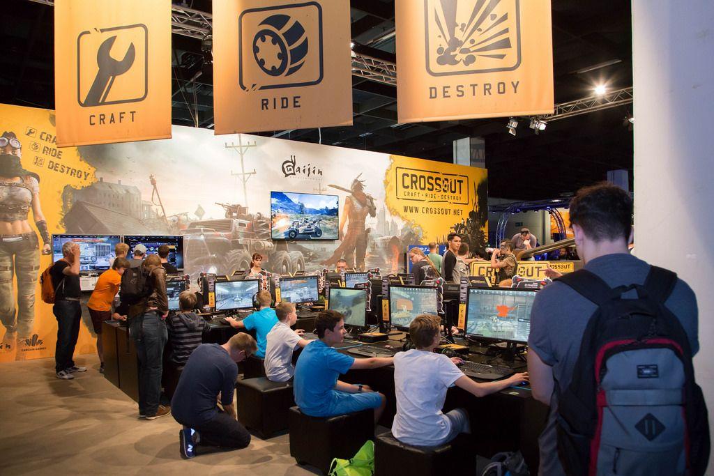 Stand von Crossout bei der Gamescom 2017