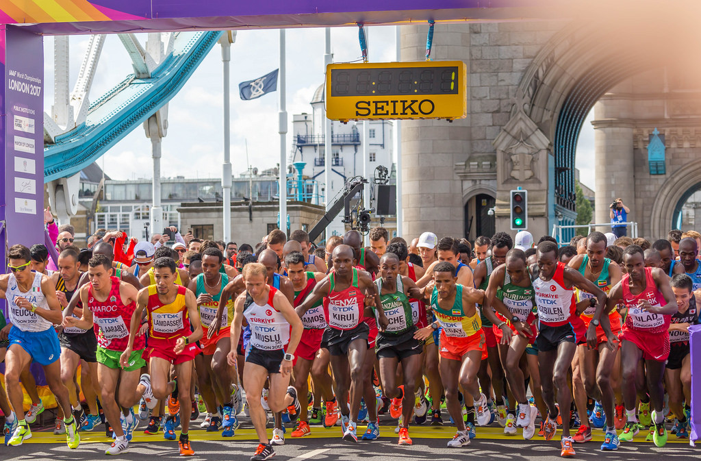 Start of the Men's Marathon during World Championships in London 2017