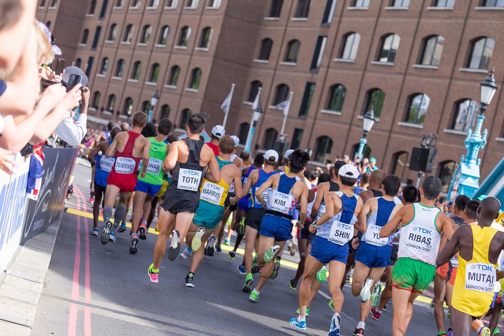 Start of the Men's Marathon in London 2017