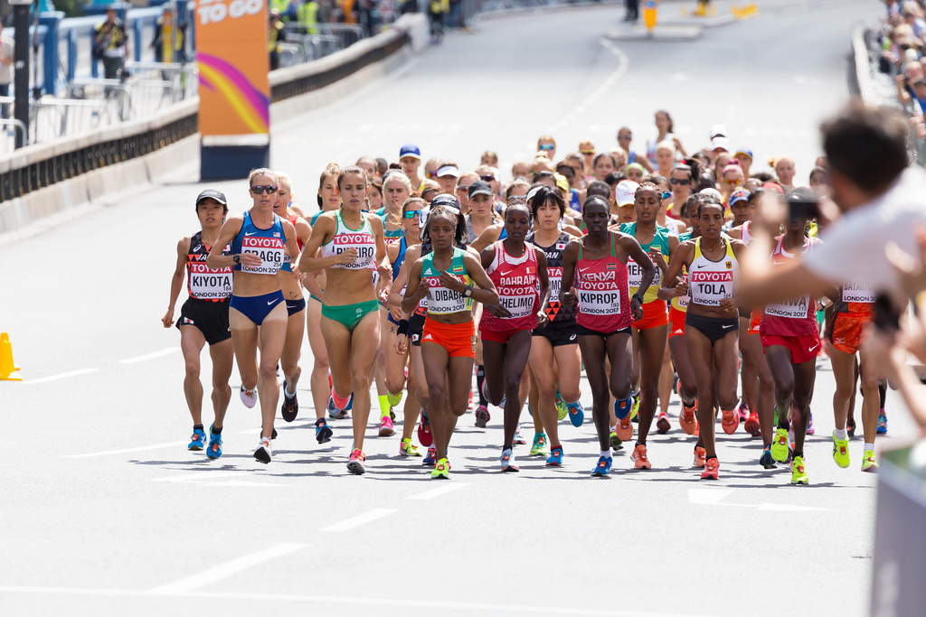 Start of the Women's Marathon in London 2017