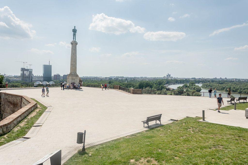 Statue of Unknown Hero on Kalemegdan in Belgrade