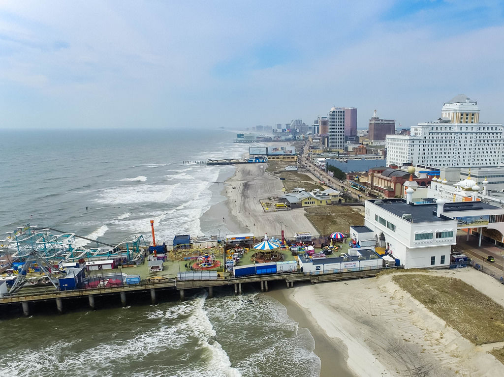 Steel Pier Atlantic City Aerial Photography