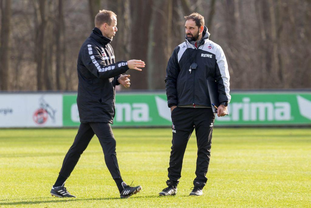 Stefan Ruthenbeck und Kevin McKenna beim Training am 30.01.2018