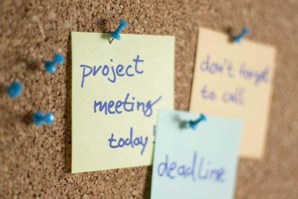 Sticky note paper reminder