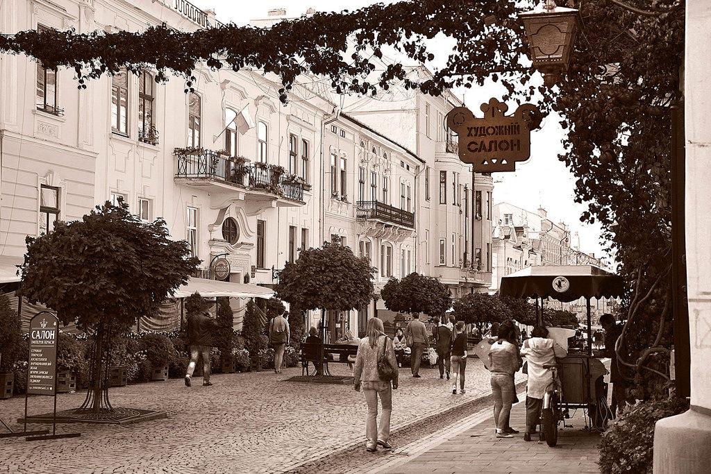 Straße der Unabhängigkeit. Czernowitz Stadt