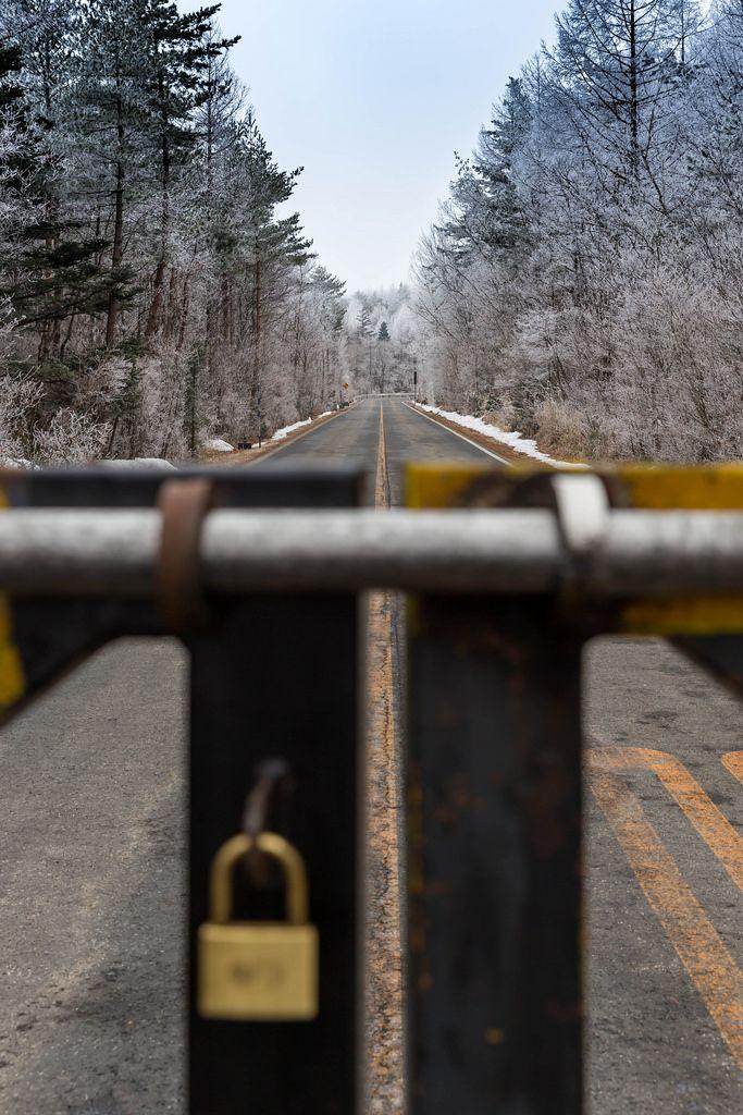 Straße gesperrt