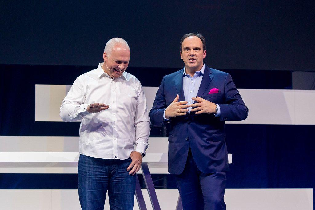 Strategic partners: Teradata's President and CEO Oliver Ratzesberger and Deutsche Telekom's Director for Business Customers Hagen Rickmann address the Digital X audience
