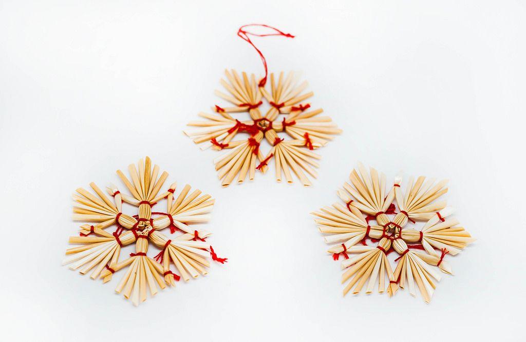 Straw Christmas Tree Decoration