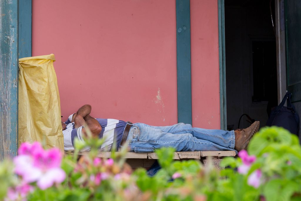 Street Photography: Sleeping Gardener
