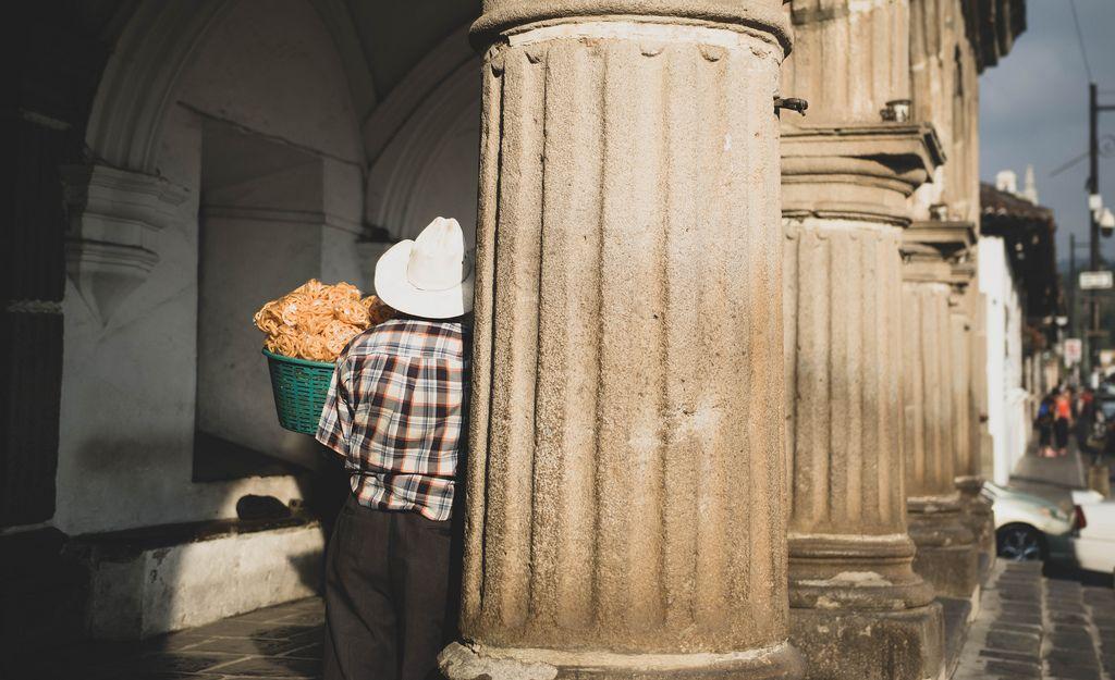 Street vendor selling chips