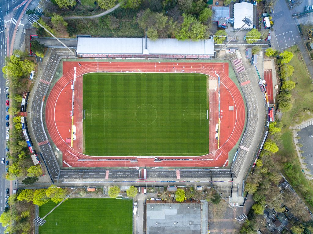 Südstadion in Köln aus der Vogelperspektive