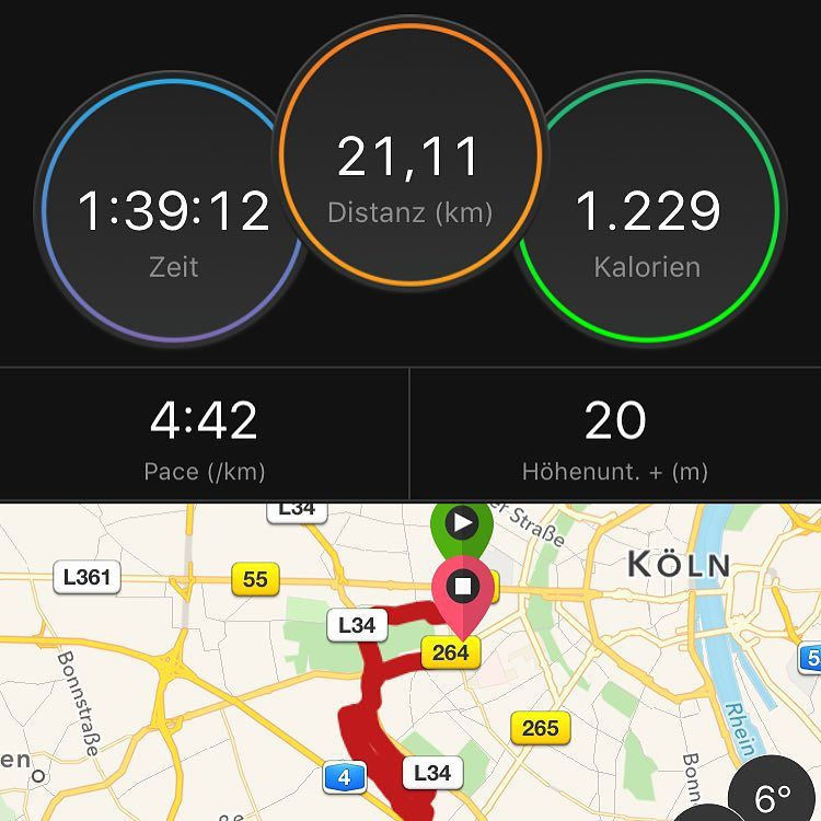 Sunday-Half /w ? & ? after a week /wo sports. #happy #runner #ASICSFrontrunner