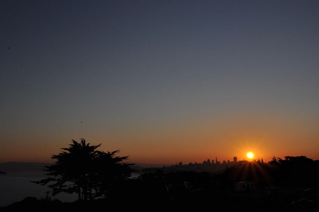 Sunrise in San Francisco / Sonnenaufgang in San Francisco