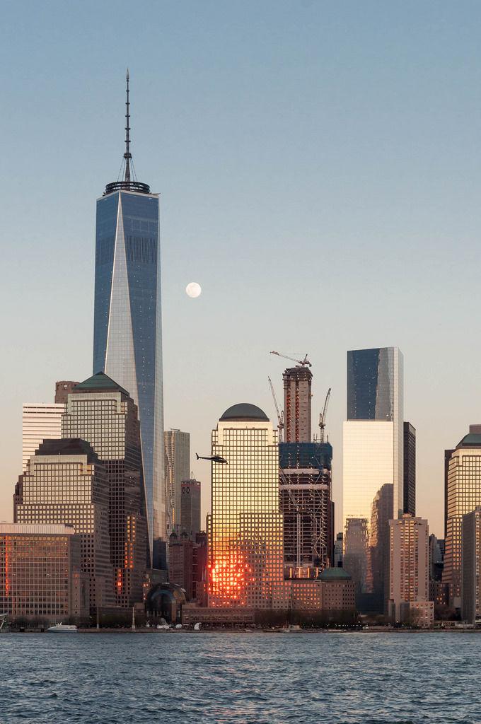 Sunset in New York: World Trade Center