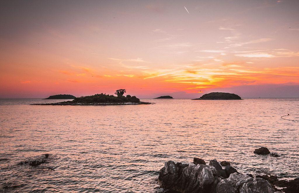 Sunset in Vrsar, Croatia