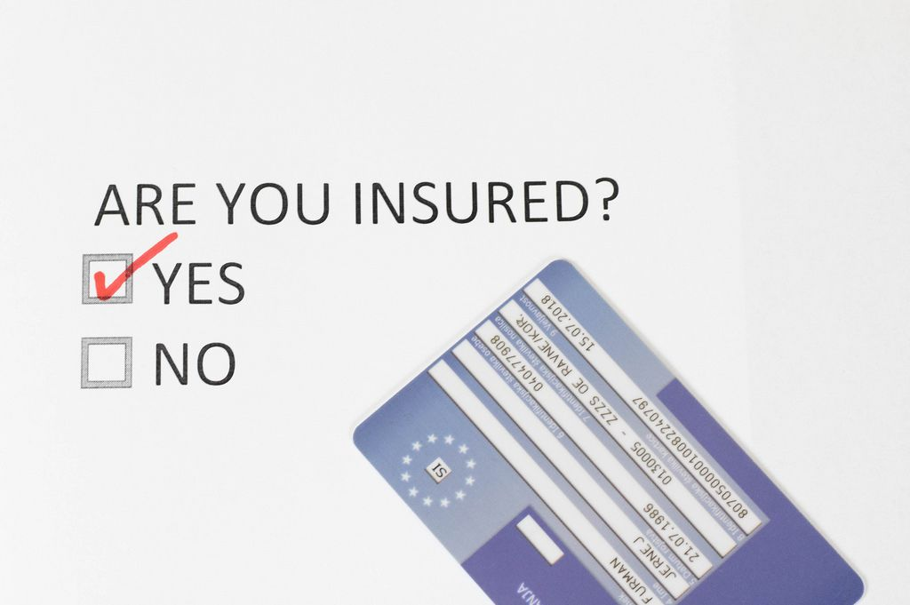 Survey with question Insured, yes or no