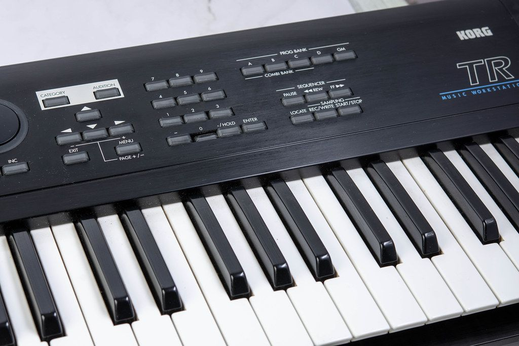 Synth Keyboards with black and white keys