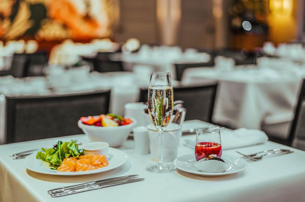 Table of Hotel Breakfast