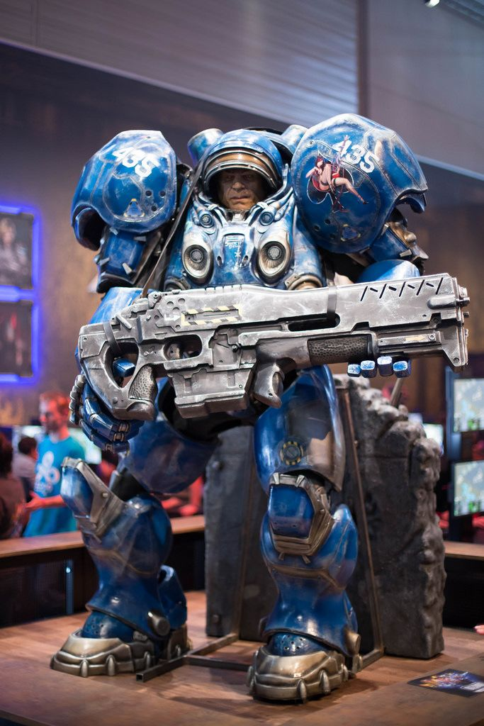 Taikus-Modell von Star Craft am Messestand von Activision Blizzard
