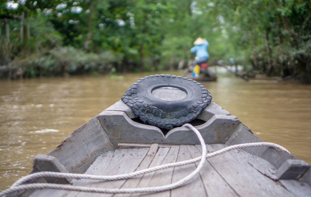 Taking a Boat Ride through the Jungle of the Mekong Delta in Vietnam