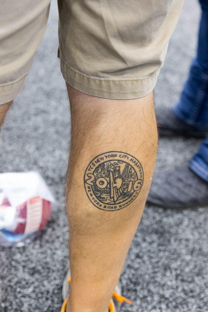 Tattoo am Bein: New York Road Runners, NYC Marathon 2016