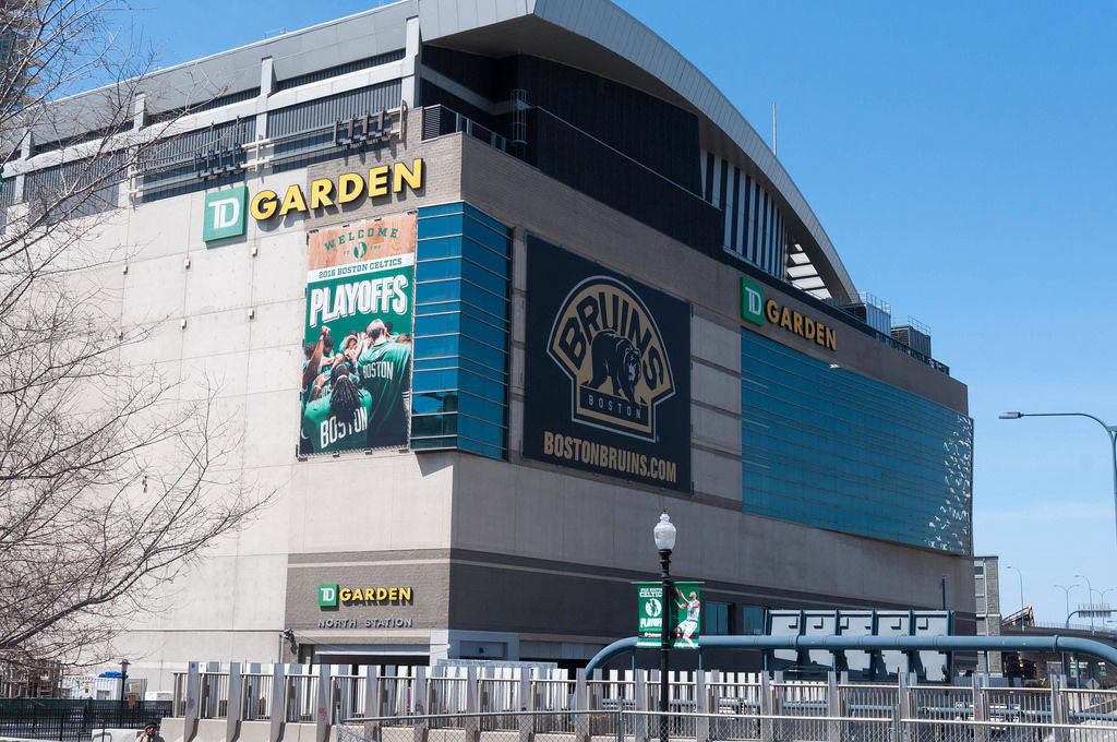 TD Garden in Boston