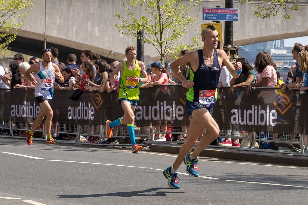 Terence Forrest, Martin Frelich, Fabien Lassonde - London Marathon 2018