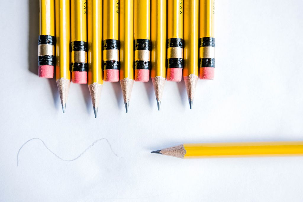 Testing yellow pencils
