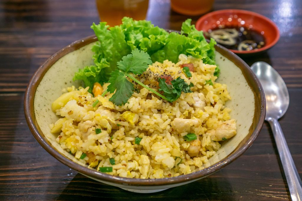Thai Fried Rice in a Restaurant in Saigon, Vietnam