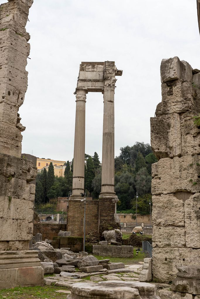 The archealogical area of the Theater of Marcellus and the Portico of Octavia in Rome