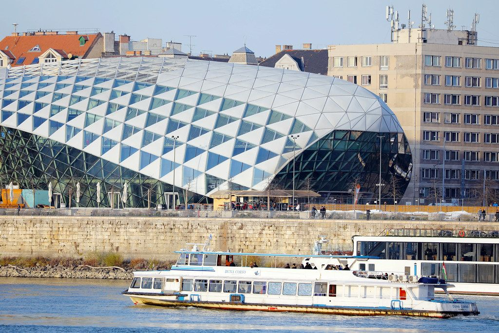 The Balna, Whale, modern building in Budapest, Hungary